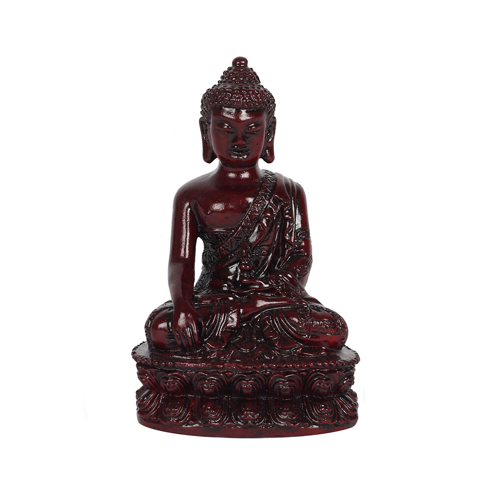 12cm Red Thai Buddha