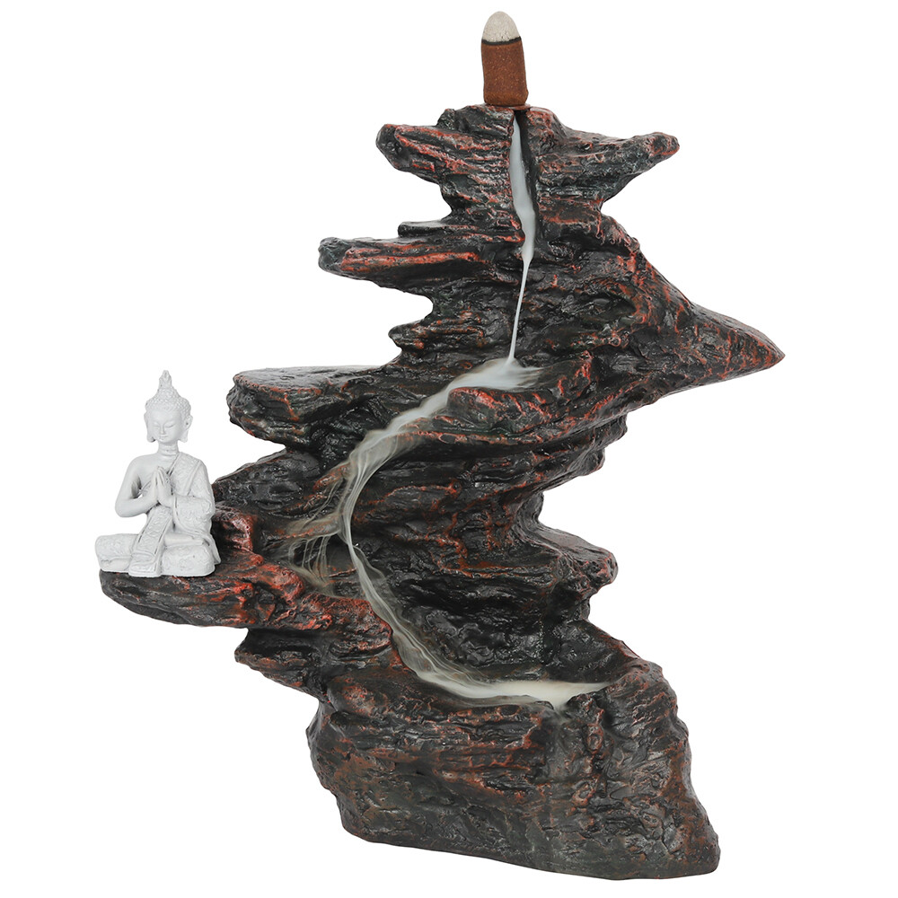 25cm Buddha on Rocks Backflow Cone Burner