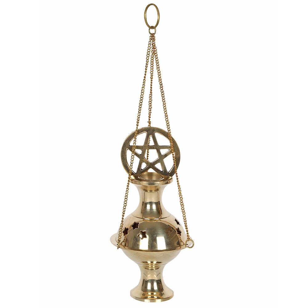 Metal Pentagram Incense Censer