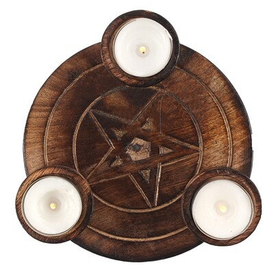 Pentagram Tea Light Candle Holder