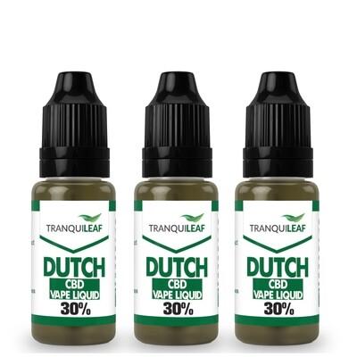 3 DUTCH CBD VAPE LIQUID 30%