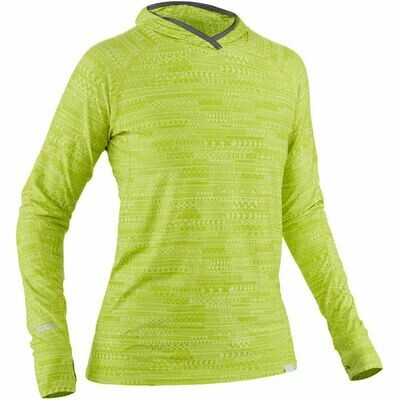 NRS Women's H2Core Silkweight Hoodie lime