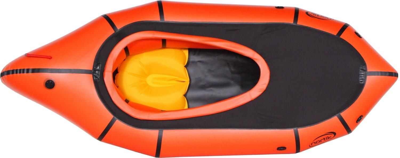 2020 - Nortik TrekRaft mit Verdeck orange/schwarz Testboot