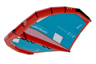 Starboard FreeWing Air V2 - 7,0 m² teal-red