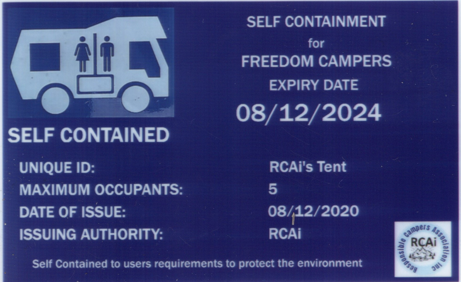 Self Contained 'Gimmick' Card