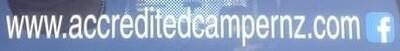 Accredited Camper Windscreen Banner