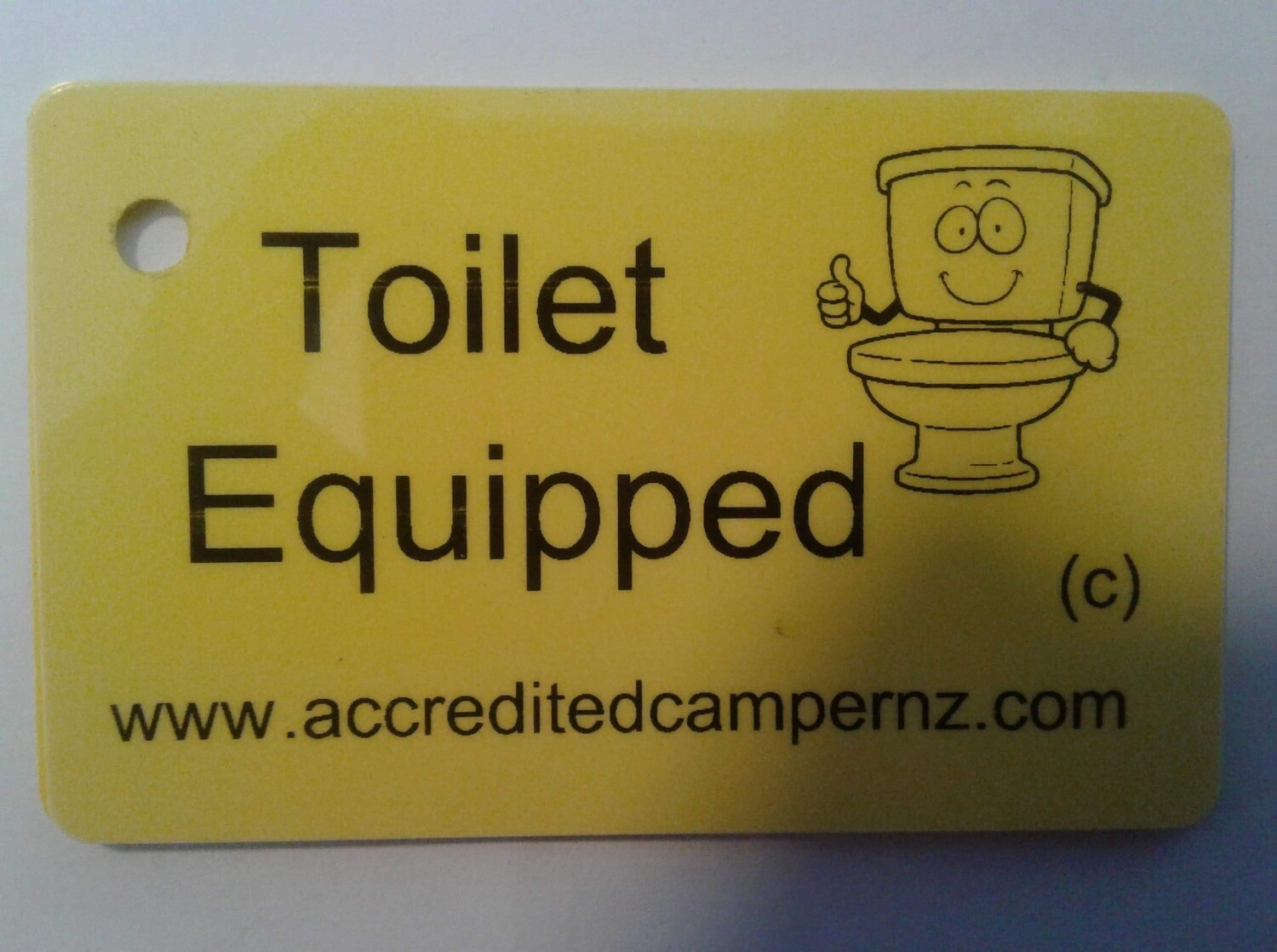 Toilet Equipped Card