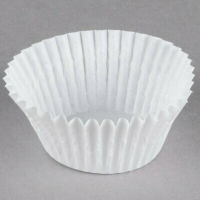 100 White Fluted Baking Cup 2 x 1 1/4