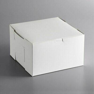 10 x 10 x 6 White Cake Box