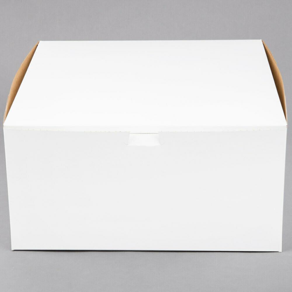 12 x 12 x 6 White Cake Box