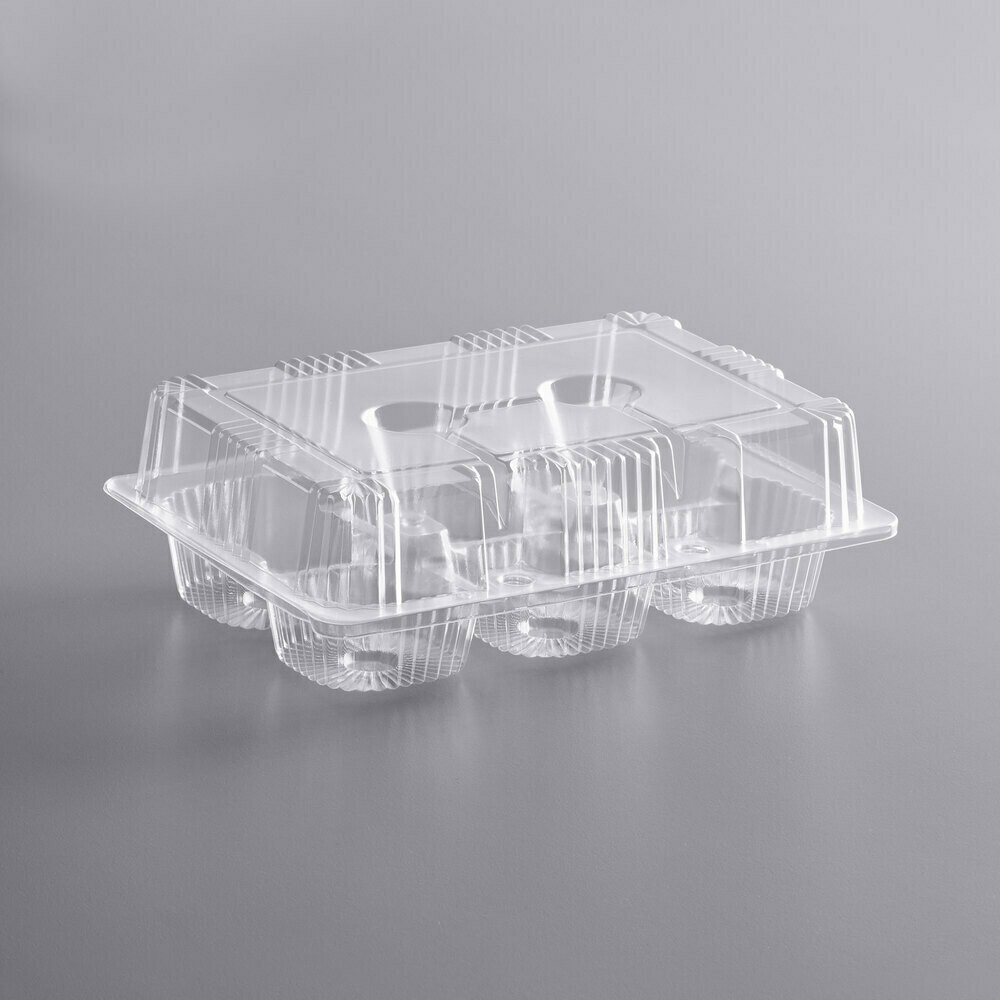 6 Cup High Dome Cupcake Container
