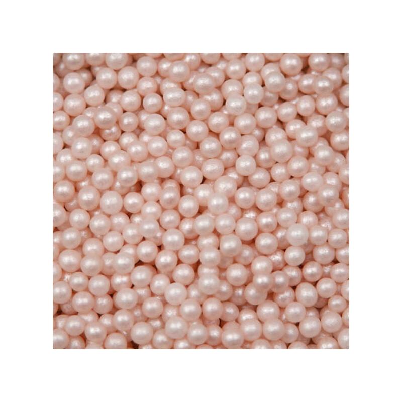 Pink Ivory Sugar Pearls - 4 mm - 4 oz