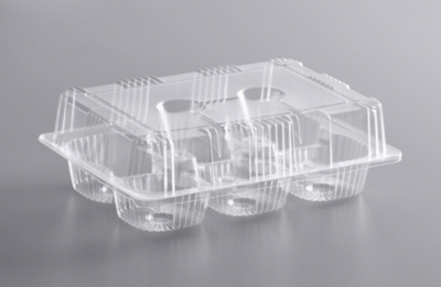 6 Cup Med Dome Cupcake Container