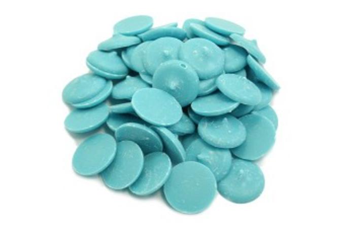 Blue Chocolate Wafers - 1 LB