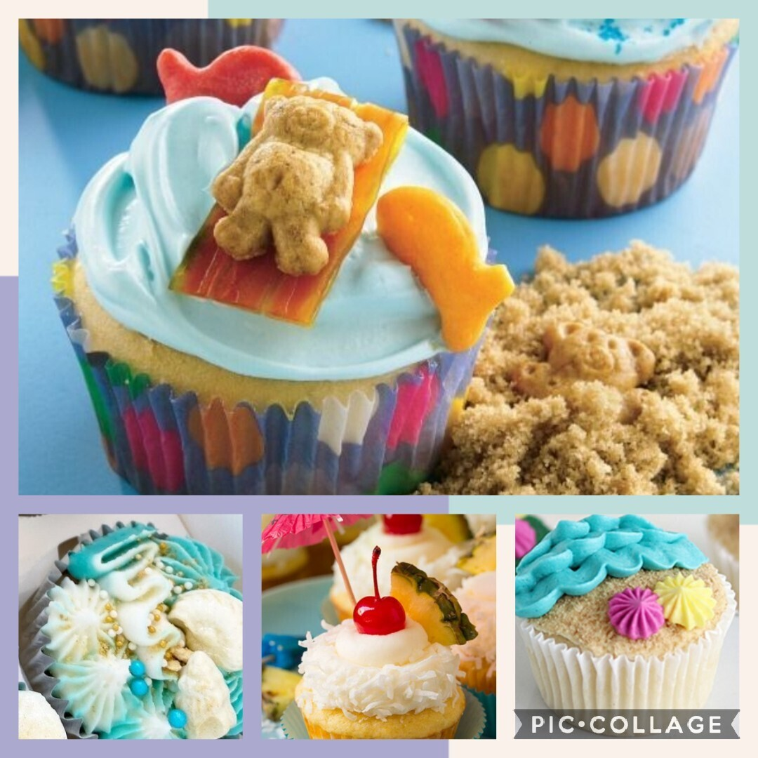 Party at the Beach Adult BYOB Cupcake Decorating Class 6.27.2021 3PM to 5PM