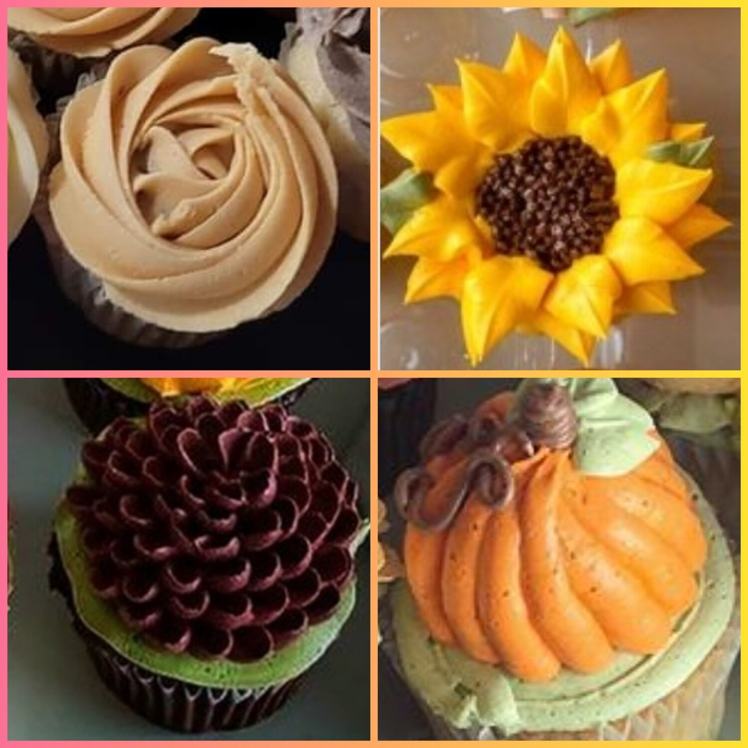 Kids Fall Flowers Cupcake Decorating Class Sunday September 26th 12pm to 2pm