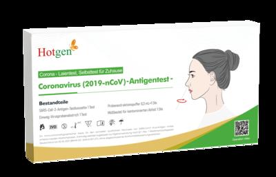 HOTGEN SARS-CoV2 Antigentest (Laientest Nasenabstrich 1,5cm) 5er Packung