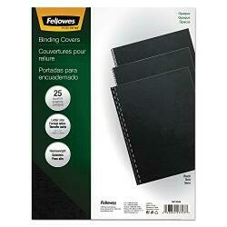 Fellowes Presentation Covers, Plain, Letter,8-1/2-Inch X11-Inch, 25/Pk, Black