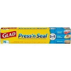 Glad Press N Seal Plastic Food Wrap 70 Square Foot Roll Packaging May Vary