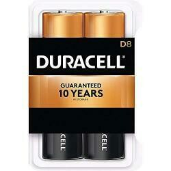Duracell Coppertop D Alkaline Batteries With Recloseable Package - 8 Count