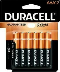 Duracell Coppertop Aaa Alkaline Batteries - Long Lasting, All-Purpose Triple A Battery For Household And Business - 12 Count
