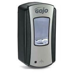 Gojo Ltx-12 Foam Soap Touch-Free Dispenser, Chrome/Black Finish, Dispenser For 1200 Ml Foam Soap Gojo Ltx-12 Refill - 1919-01