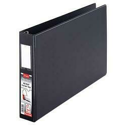 "Cardinal Premier Easy Open 11"" X 17"", Locking Slant-D Ring Binder, 2"", Black (12132)"