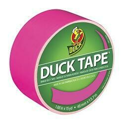 Duck Tape Solid Colours Neon Pink. Repair, Craft, Personalise, Decorate And Educate - 48Mm X 13.7M