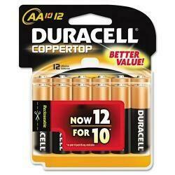 Duracell Battery Alkaline Cu Top 12/Aa