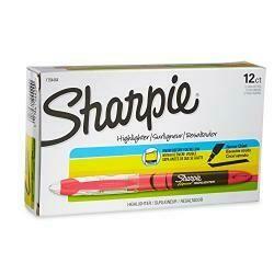 Sharpie Accent Sharpie Pen-Style Highlighter, Fluorescent Pink, 12-Pack