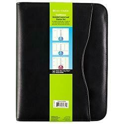 Day-Timer Avalon Simulated Leather Binder, Zip Closure, Desk Size, 8 X 10 Inches, Black (D82631E)