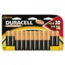 Duracell Coppertop Aa Alkaline Batteries, Pack Of 20