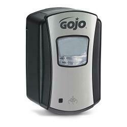 Gojo Ltx-7 Foam Soap Touch-Free Dispenser, Chrome/Black Finish, Dispenser For Gojo Ltx-7 700 Ml Hand Soap Refills - 1388-04