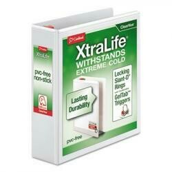 Cardinal Xtralife Clearvue Non-Stick Locking Slant-D Binder