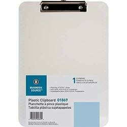 "Sparco Transparent Plastic Clipboard, Flat Clip, 9""X12-1/2"", Smoke (Spr01870)"