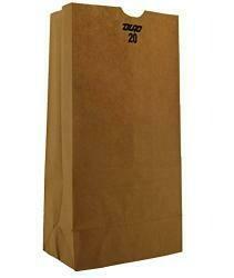 Duro Id# 18420 20# Sos Bag 40# 100% Recycled Natural Kraftm, 500 Piece