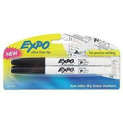 Expo Neon Dry Erase Marker Bullet Tip Assorted 5/Set