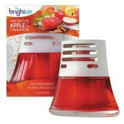 Bright Air&Reg; Scented Oil Air Freshener, Macintosh Apple And Cinnamon, Red, 2. 5Oz, 6/Carton