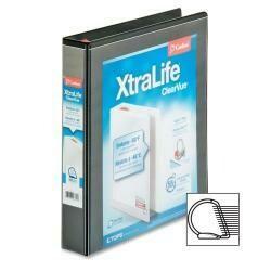 """Wholesale Case Of 20 - Cardinal Xtralife Clearvue Locking Slant-D Binders-Clearvue Binder, D-Ring, 1-1/2"""" Capacity, 11""""X8-1/2"""", Black"""