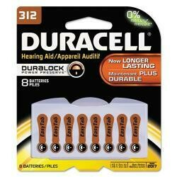 Duracell Zinc Air Hearing Aid Battery 1.4 V Model Da 312 Pack Pack / 8
