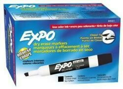 Expo Low Odor Chisel Tip Dry Erase Markers-Black-12 Ct, 2 Pk
