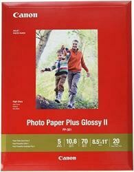 """Canon 1432C003 Photo Paper Plus Glossy Ii 8.5"""" X 11"""" 20 Sheets"""