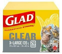 Glad 20 Pack 31 X 42 Clear Lawn And Leaf Garbage Bags