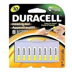 Duracell Zinc Air Hearing Aid Battery 1.4 V Model Da 10 Pack Pack / 8