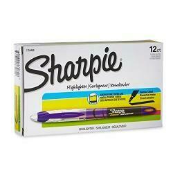 Sharpie Accent Sharpie Pen-Style Highlighter, Purple, 12-Pack