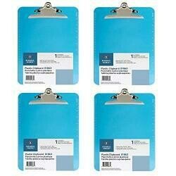 Business Source Spring Clip Plastic Clipboard (4)