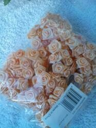"""Lewis And White, Inc. Roses, Ribbon Roses, 1"""", Peach, Pack Of 72 Flowers."""