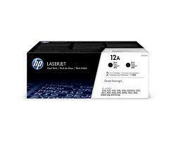 HP 12A | Q2612D | 2 Toner Cartridges | Black