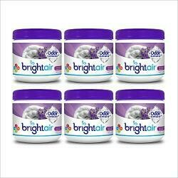 Bright Air Solid Air Freshener And Odor Eliminator, Lavender And Linen Scent, 14 Oz Each, 6 Pack