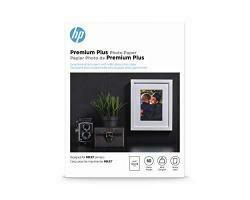HP Premium Plus Photo Paper   Glossy   5X7   60 Sheets
